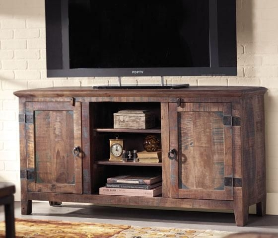 Innovative Favorite Rustic Corner TV Stands Inside Best 10 Reclaimed Wood Tv Stand Ideas On Pinterest Rustic Wood (View 42 of 50)