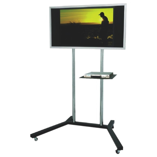 Innovative Favorite Silver TV Stands In Tygerclaw Mobile Tv Stand With 22 60 Fixed Tv Mount Black (View 38 of 50)