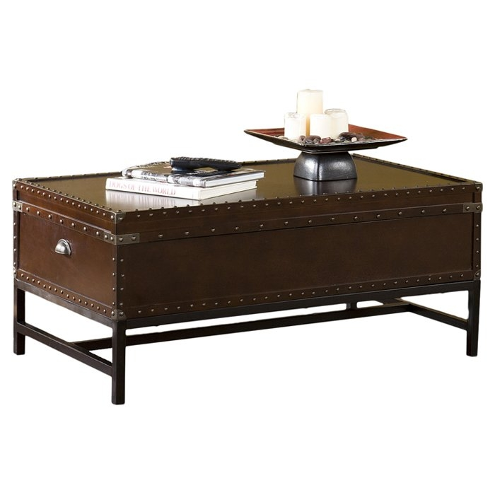 Innovative Favorite Trunk Coffee Tables Intended For Trent Austin Design Aztec Trunk Coffee Table Reviews Wayfair (View 14 of 50)