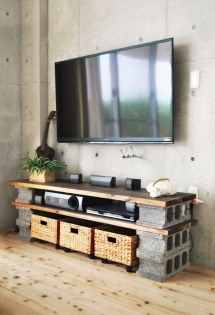 Innovative Favorite TV Stands With Drawers And Shelves Within Tv Stands Collection Cheap Rustic Tv Stand With Fireplace Ideas (Image 36 of 50)