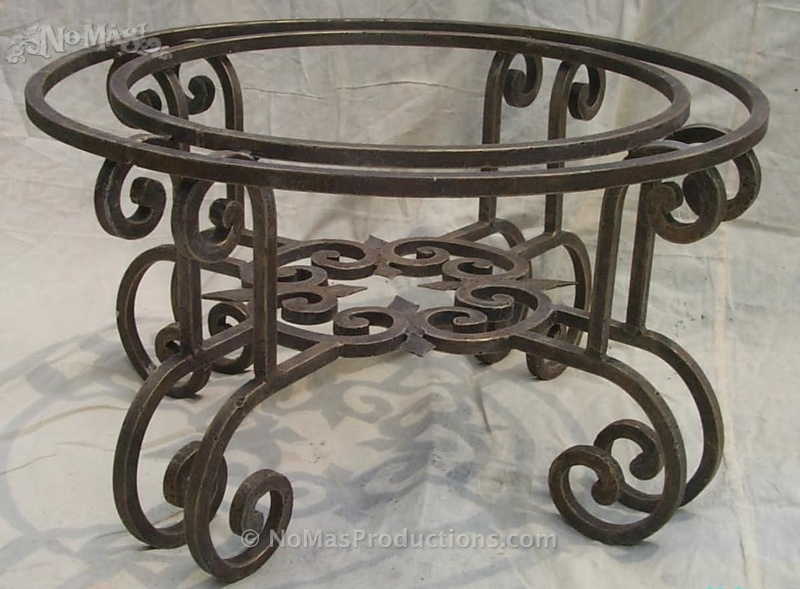 Innovative Favorite Wrought Iron Coffee Tables Regarding Wrought Iron Coffee Table Base No Mas Productions (Image 30 of 50)