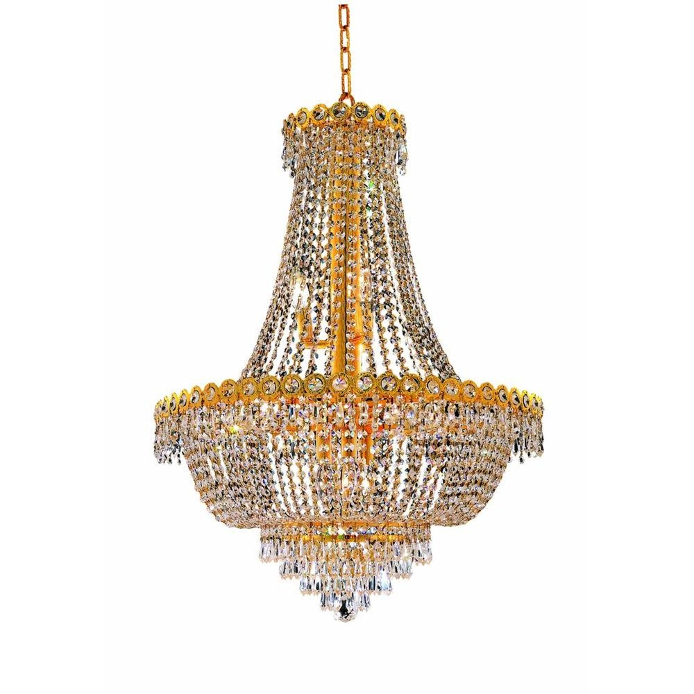 Innovative Gold Chandelier Light James Moder 40317g22 Cascade Throughout Crystal Gold Chandeliers (Image 18 of 25)