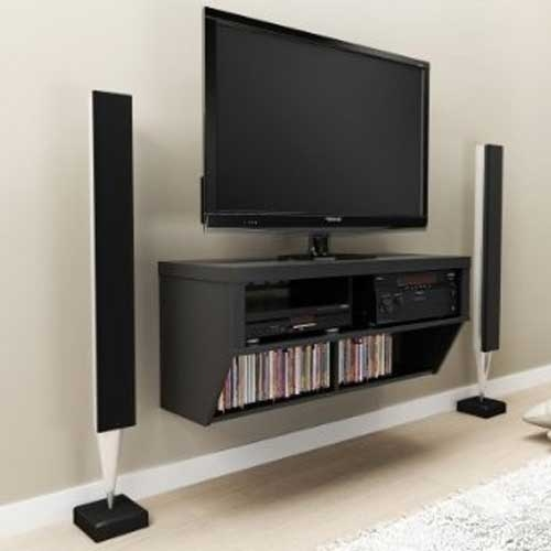 Innovative High Quality Black TV Stands With Regard To Black Tv Stand And Entertainment Console In Tv Stands (Image 27 of 50)