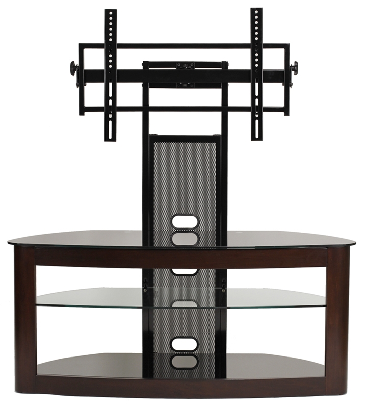 Innovative High Quality Corner TV Stands For 60 Inch Flat Screens Inside Transdeco Tv Stand W Universal Mount 42 46 50 52 55 60 65 70 Inch (Image 28 of 50)