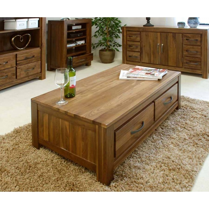 Innovative High Quality Low Coffee Tables With Drawers Within Walnut Coffee Table And Lamp Tables Walnut Furniture At Zurleys Uk (Image 36 of 50)