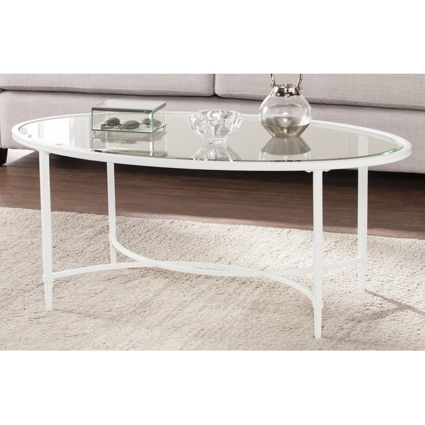 Innovative High Quality Metal Oval Coffee Tables In Winston Porter Lincoln Metalglass Oval Coffee Table Reviews (Image 31 of 50)