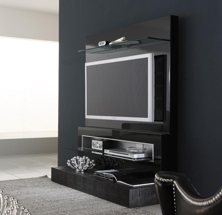 Innovative High Quality Modern Black TV Stands Inside Diamond Tv Stand Rossetto (Image 28 of 50)