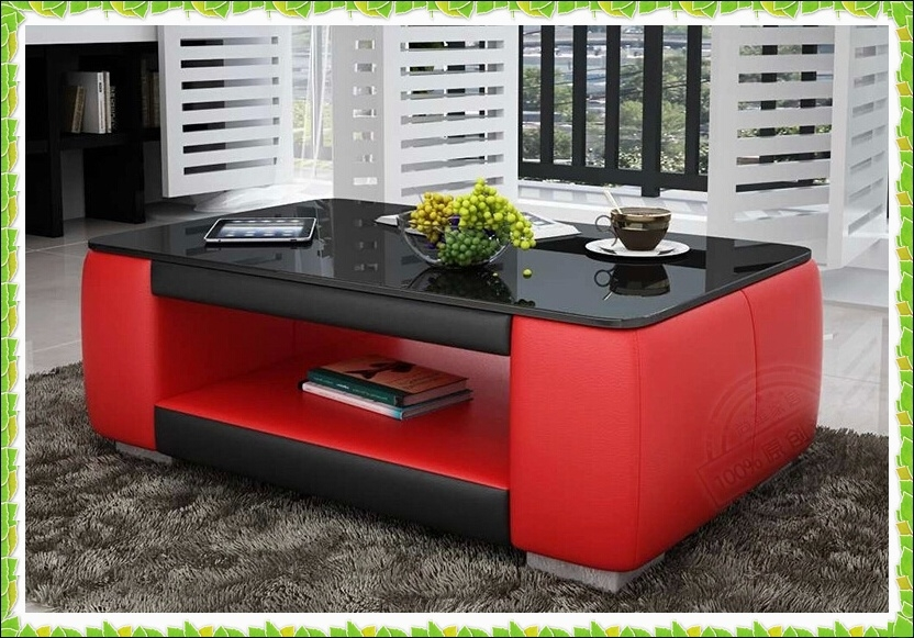 Innovative High Quality Red Coffee Table Inside Red And Black Leather Coffee Table (Image 33 of 50)