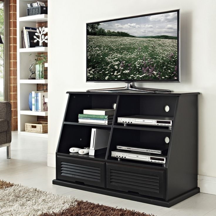 Innovative High Quality Solid Wood Black TV Stands In 290 Best Tv Stands Images On Pinterest Tv Stands Entertainment (Image 40 of 50)