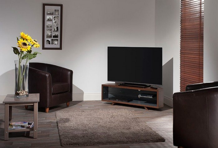 Innovative High Quality Walnut Corner TV Stands Intended For Techlink Dual Corner Tv Stand For Up To 55 Tvs Walnut And (Image 37 of 50)