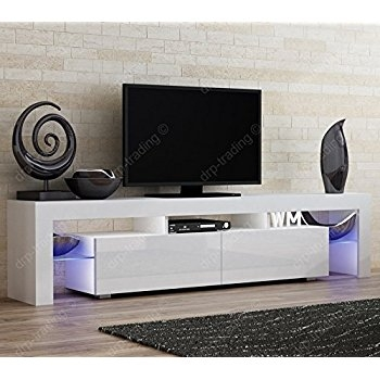 Innovative High Quality White Gloss TV Cabinets In Tv Unit Cabinet Stand Mambo White Matt White High Gloss 160 Cm (Image 31 of 50)