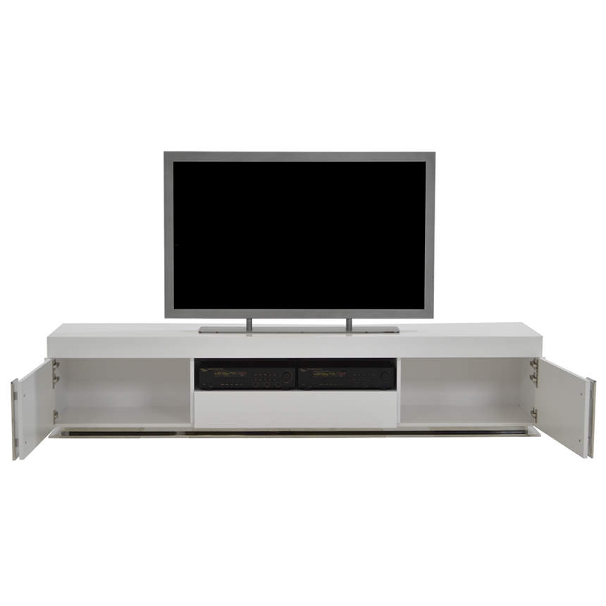 Innovative High Quality White Gloss TV Stands For Grand Night White Gloss Tv Stand El Dorado Furniture (Image 31 of 50)