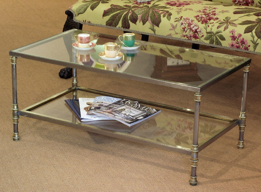 Innovative Latest Antique Glass Coffee Tables With Regard To Antique Glass Coffee Tables Coffee Table With Glass Top Furnish (Image 24 of 40)