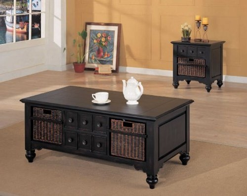 Innovative Latest Black Coffee Tables With Storage Inside Black Coffee Table With Storage (Image 28 of 40)
