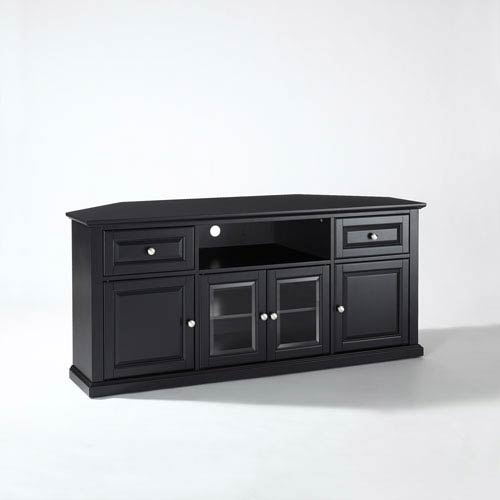 Innovative Latest Black Corner TV Stands For TVs Up To 60 Within Corner Tv Cabinets Tv Stands And Cabinets Bellacor (Image 31 of 50)