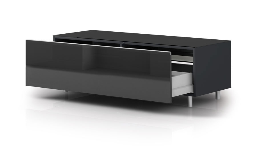 Innovative Latest Black TV Cabinets With Drawers For Just Racks Jrl1100 Sl Gloss Black Tv Cabinet W Drawer Black Tv (Image 31 of 50)