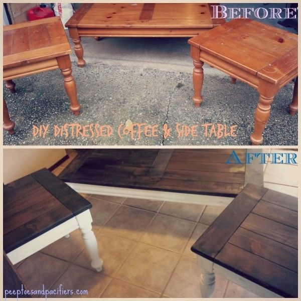 Innovative Latest Coffee Tables And Side Table Sets Within Best 25 Distressed Coffee Tables Ideas Only On Pinterest (Image 34 of 50)