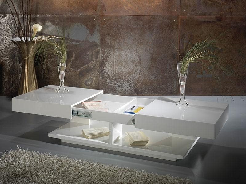 Innovative Latest Coffee Tables White High Gloss In Contemporary High Gloss White Or Anthracite Robin Coffee Table (Image 25 of 40)