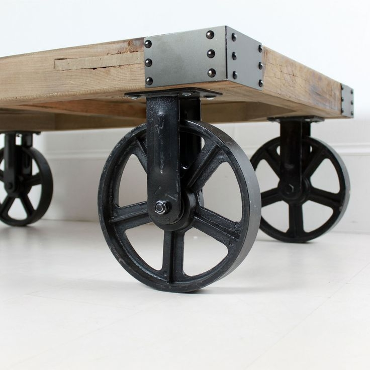 Innovative Latest Coffee Tables With Wheels For Best 25 Coffee Table With Wheels Ideas On Pinterest Industrial (View 19 of 40)
