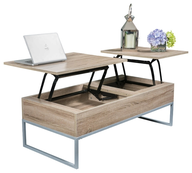 Innovative Latest Desk Coffee Tables Throughout Living Room Great Industrial Storage Coffee Table West Elm (Image 27 of 50)