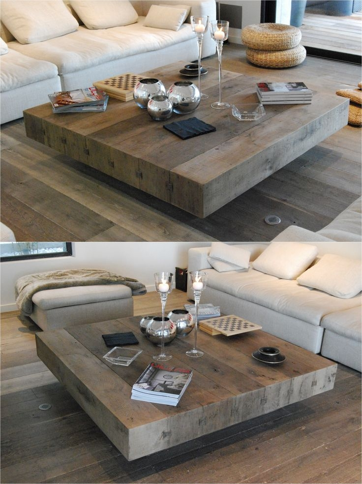 Innovative Latest Large Square Wood Coffee Tables Inside Best 20 Square Coffee Tables Ideas On Pinterest Build A Coffee (Image 30 of 50)