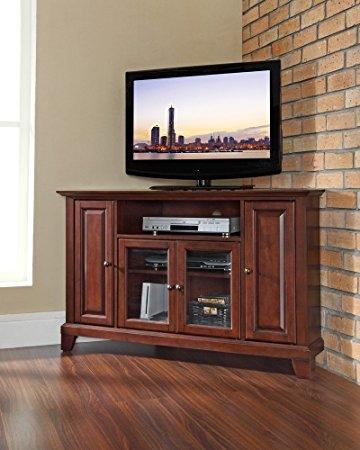 Innovative Latest Mahogany Corner TV Stands Inside Amazon Crosley Furniture Newport 48 Inch Corner Tv Stand (Image 28 of 50)