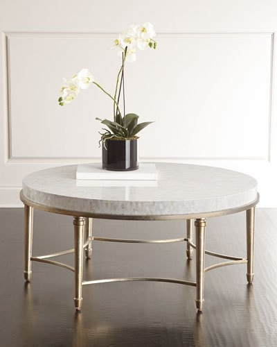 Innovative Latest Marble Round Coffee Tables Pertaining To Designer Coffee Accent Tables At Neiman Marcus (View 41 of 50)