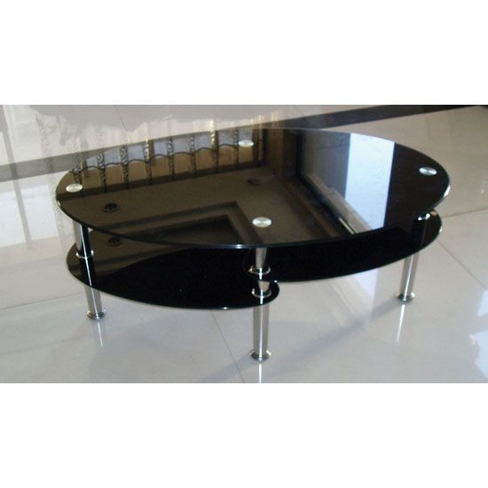 Innovative Latest Oval Shaped Coffee Tables Regarding Best 25 Black Glass Coffee Table Ideas That You Will Like On (View 26 of 50)