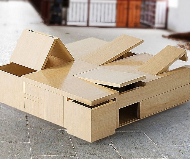 Innovative Latest Puzzle Coffee Tables Intended For Box Coffee Table (Image 27 of 40)