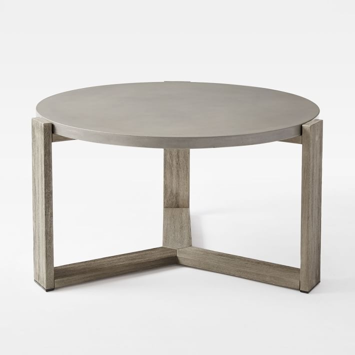 Innovative Latest Solid Round Coffee Tables For Mosaic Tiled Coffee Table Solid Concrete West Elm (Image 24 of 40)