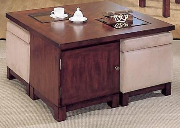 Innovative Latest Square Storage Coffee Tables Pertaining To Square Coffee Tables With Storage (View 17 of 50)