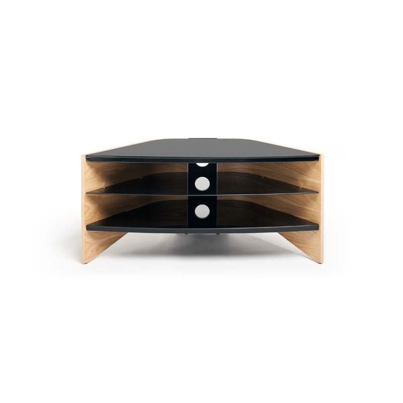 Innovative Latest Techlink Riva TV Stands Inside Techlink Riva Series 50 In Corner Tv Stand Light Oak And Black (Image 29 of 50)