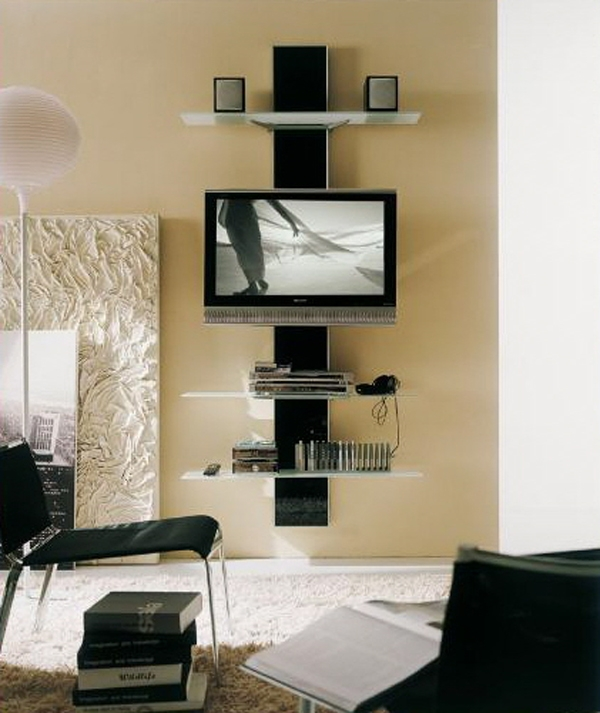 Innovative Latest TV Stands For Small Spaces With Flat Screen Tv Interior Design Ideas Like Architecture Interior (Image 35 of 50)