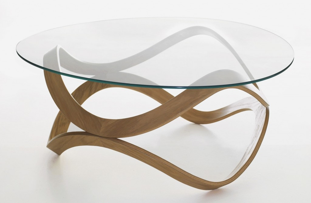 Innovative Latest Vintage Glass Coffee Tables Within Trendy And Modern Glass Oval Coffee Table (View 32 of 50)