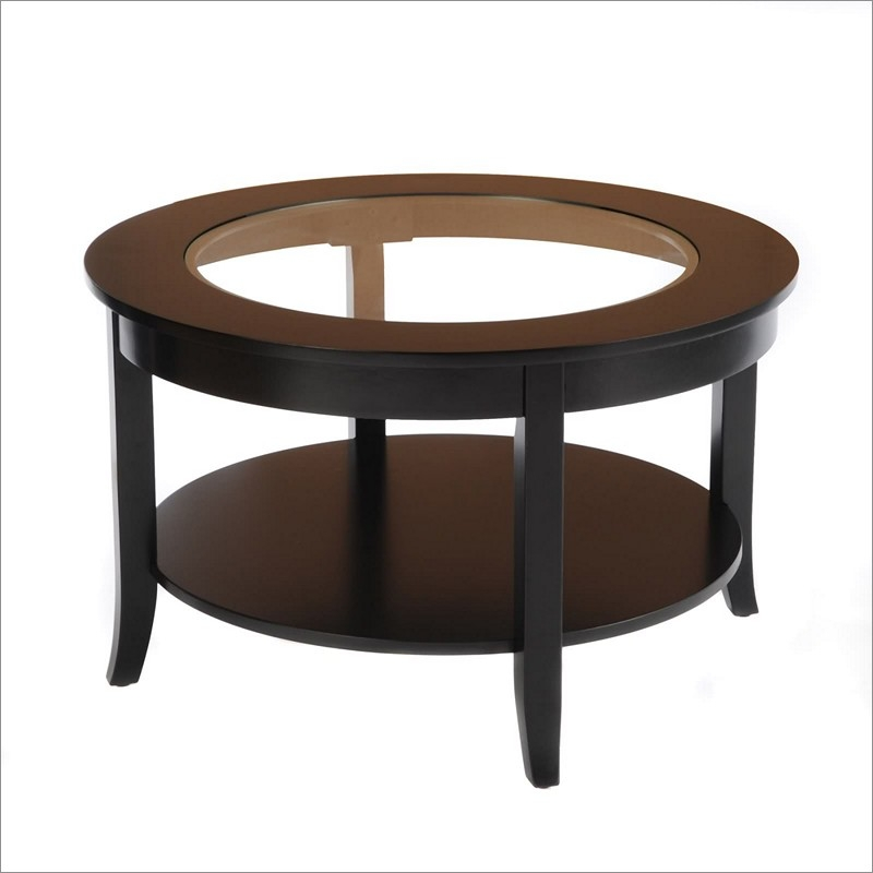 Innovative Latest Vintage Glass Top Coffee Tables Within Round Glass Top Coffee Table Antique (View 50 of 50)