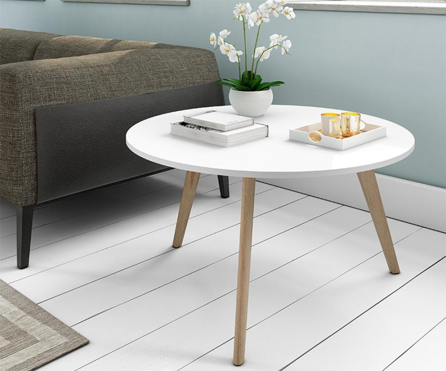 Innovative Latest White And Oak Coffee Tables Regarding Hugo Square Coffee Table High Gloss White And Oak Base White (Image 32 of 50)