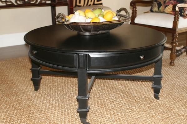 Innovative New Black Circle Coffee Tables Regarding Round Coffee Tables With Storage (Image 32 of 50)