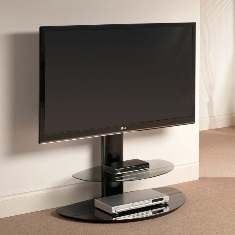 Innovative New Corner TV Stands For 50 Inch TV With Regard To Techlink Strata 2 Shelf 50 Inch Corner Tv Stand With Integrated Tv (Image 29 of 50)