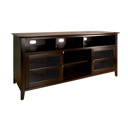 Innovative New Dark Wood TV Stands Within Bello No Tools Assembly 65 Inch Wood Tv Cabinet Dark Espresso (View 23 of 50)