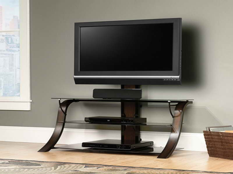 Featured Image of Glass Corner TV Stands For Flat Screen TVs