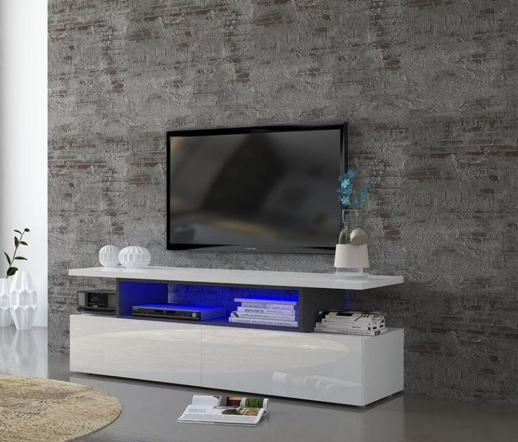 Innovative New Modern TV Cabinets Inside Best 20 White Gloss Tv Unit Ideas On Pinterest Tv Unit Images (Image 31 of 50)