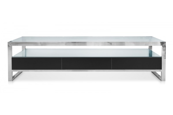 Innovative New Modern TV Stands Pertaining To Space Saving Modern Strada Modern Tv Stand Black (View 48 of 50)