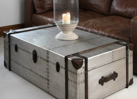 Innovative New Silver Trunk Coffee Tables Throughout Hawthorn Modern Brown Tree Trunk Silver Metal Coffee Table Kathy (Image 27 of 40)