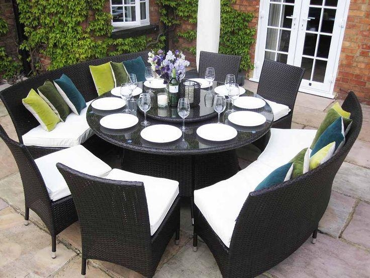 Innovative Outdoor Round Dining Table For 8 Outdoor Round Dining Pertaining To 8 Seat Outdoor Dining Tables (Image 15 of 20)
