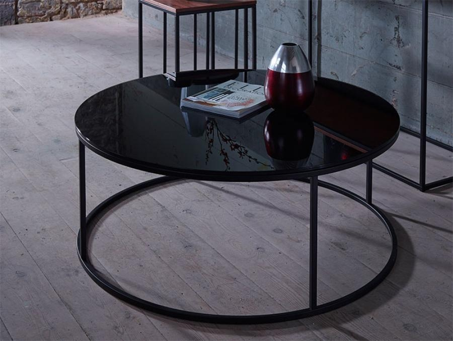 Innovative Popular Black Circle Coffee Tables For Ferpas Coffee Table Round Contemporary Coffee Tables Miami 1950s (View 47 of 50)