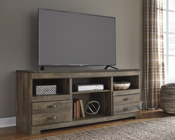 Innovative Popular Classy TV Stands Within Trinell Vintage Casual Brown Lg Tv Stand Wo Fireplace (View 27 of 50)