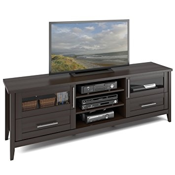 Innovative Popular Expresso TV Stands Intended For Amazon Corliving Tjk 687 B Jackson Extra Wide Tv Stand (View 45 of 50)