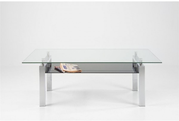 Innovative Popular Glass Chrome Coffee Tables Intended For Modern Glass Coffee Table (Image 26 of 40)