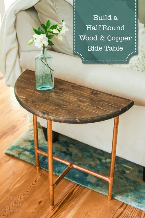 Innovative Popular Half Circle Coffee Tables Within Best 25 Round Side Table Ideas Only On Pinterest Shanty Chic (View 12 of 40)