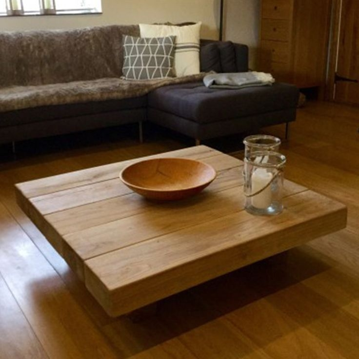Innovative Popular Large Low Wood Coffee Tables With Regard To Best 20 Square Coffee Tables Ideas On Pinterest Build A Coffee (View 28 of 50)